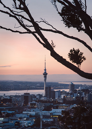 Auckland City at Sunset