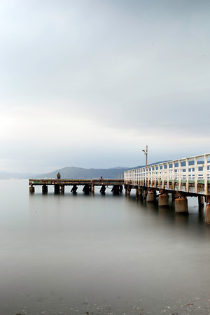 Lone fisherman - Seatoun Wharf