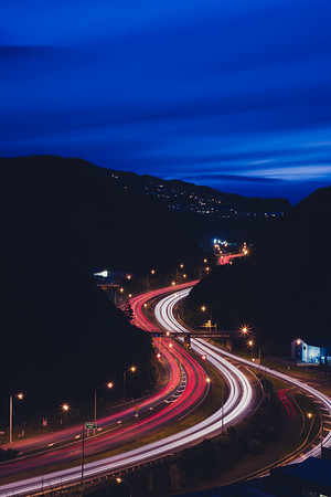 Ngauranga gorge (Centennial Highway) - Long Exposure