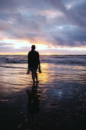 Sunset at Otaki Beach