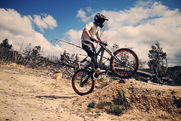 About to Jump - Downhill Mountain biking