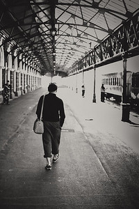 Waiting for the train - Dunedin railway station