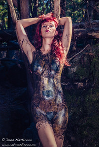This is the second of two looks I created for model Christiana at a recent liquid latex-themed photoshoot. Makeup and assistance was by Rosalind Chen. Hair styling was provided by Tracy Mellon.