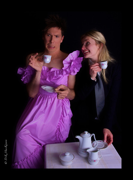 """She: """" I hope you like the tea. It's a special blend I ordered just for today."""""""