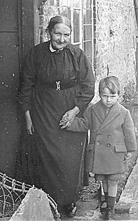 <font size=3><u> - Ellen Lane and George - 1934 - </u></font> (BS0275)  Grandmother with youngest grandson George Lane.