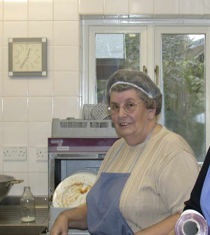 <font size=3><u> - Bridget Jones - </u></font> (BS1003)  Photographed helping out at the Day Centre, Millstream, in 2005.