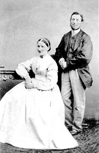 <center><font size=3><u> - Henry and Ellen Lane -  </u></font> (BS0477)  Photo date c1870. </center>