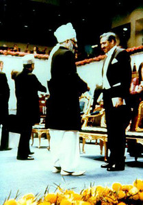 At the time of Noble Prize Ceremony