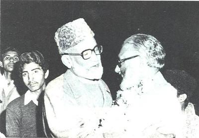 Dr Abdus Salam meeting with Principal Jamia Ahmadiyya Saif ur Rehman Sahib
