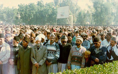His Namaz-e-Janaza (Funeral Prayers) in Rabwah, 1996