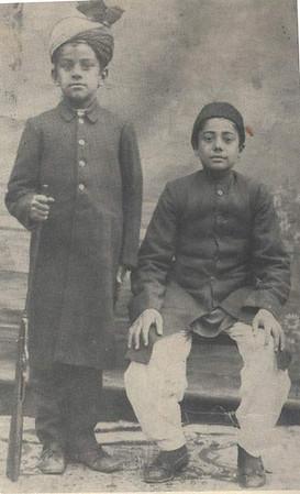 Standing is Sahibzada Mirza Muzaffar Ahmad
