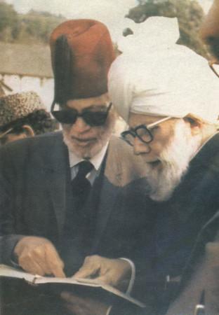 With Chaudhary Muhammad Zafrulla Khan