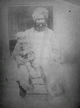 Hazrat Khalifatul Masih I with his son