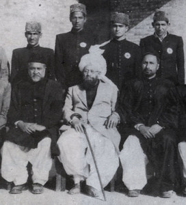T.I. College members with Hazrat Musleh Maud