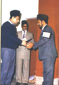 Hazrat Mirza Masroor Ahmad before Khilafat - prize distrubution ceremony