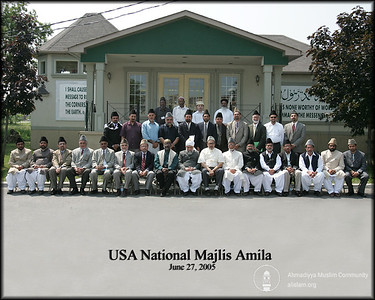 Group Photo with USA National Majlis Amla in Toronto, Canada 2005