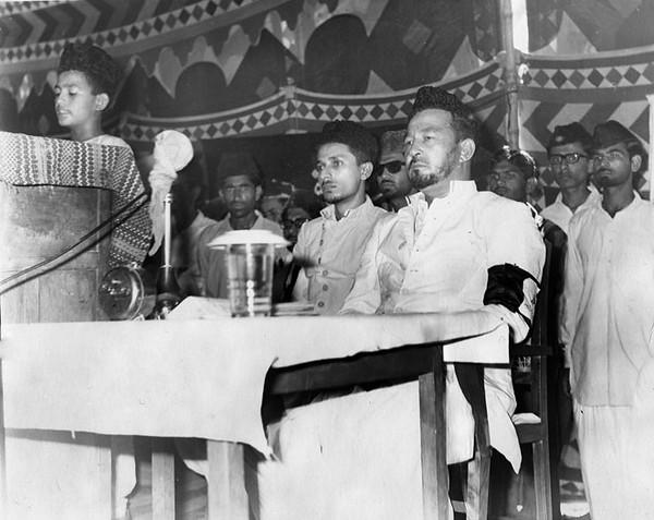 Huzur presiding Atfal-ul-Ahmadiyya Ijtema in 1969 as Sadr Khuddam-ul-Ahmadiyya Markazia