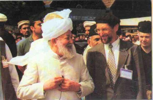 Hazoor with German Ameer sahib