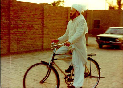 On bicyle in Rabwah