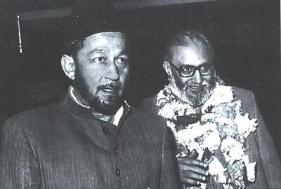 Hazrat Mirza Tahir Ahmad, Khalifatul Masih IV with Dr. Abdus Salam