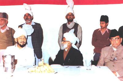 Hazrat Mirza Tahir Ahmad, Khalifatul Masih IV at a reception