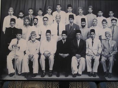 Sheikh Rehmatullah sahib, Amir Jamaat Ahmadiyya Karachi, with Majlise Aamila 1960