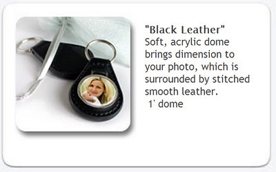 Black Leather Keychain - $15