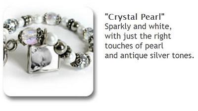 Toggle Bracelet - Crystal Pearl - $35