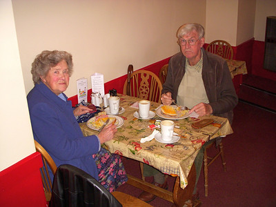 Mum & Dad in the Goodnews cafe for lunch