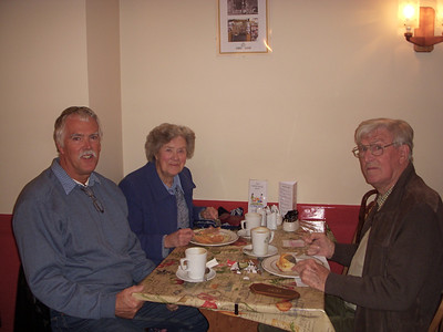 Ian with Mum & Dad in the Good News cafe.