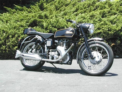1961 Velocette Venom Clubman. I restored this bike back in the mid seventies in the UK then brought it with me to California. I originally bought it for forty five pounds in 1972. I still have this bike & take it out for a ride every now & then.