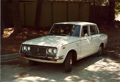 Toyota Corolla I bought with a blown engine and fixed  in 1979 for Anne to drive
