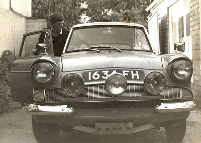 The 1961 Ford Anglia 105e was the first car I owned and it was not long before it became heavily modified. When I parted with it the engine was a 1600GT crossflow, front disc brakes, lowered all round, 5 1/2j steel rims, sump guard, spots, corbeaux seats plus a tow bar. It was fast in its day! I ended up selling the Anglia when I purchased a 1964 Lotus Cortina with the engine in bits.