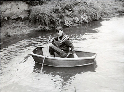 "Hmm. Well I guess I almost forgot, I also made a boat and it did float. I made it at school with help from the woodwork teacher Billy Brooks. I entered it in the ""Three Counties Show"" competition and won 3rd prize. I later sold it in Poole Dorset to help fund my first road going motorcycle a Triumph Tiger Cub."
