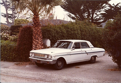 A 1964 Ford Fairlane bought for Anne to learn to drive in and use in 1978/79.