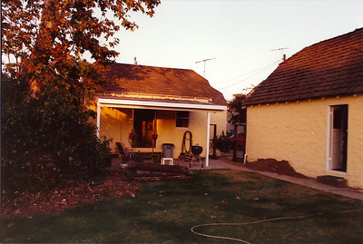 Here I had just started to rebuild the fence between the house and the garage adding a gate and a power supply underground to the garage.