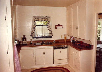 A remodel job on the kitchen saw the introduction of a dishwasher and the change of the counter tops.