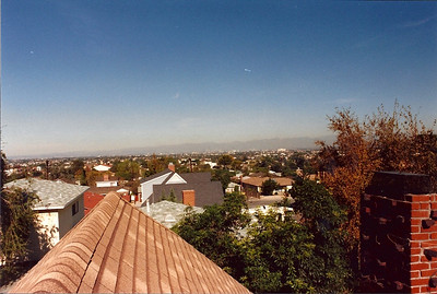 This was a view of the city looking North from the roof of the house. After the Northridge earthquake we had to have the chimney completely rebuilt.