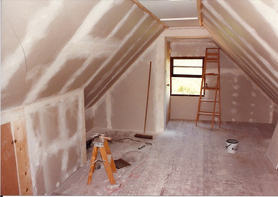 I also added drywall the the room above the garage and turned it into a guest room.