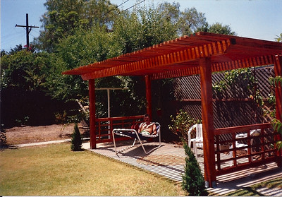 I built a shade arbor where the old laundry drying area used to be.