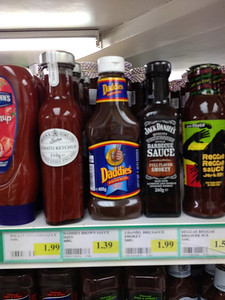 Was interested to see how much Daddy's sauce was in UK compared to what we pay at US import store, naturally a lot more.