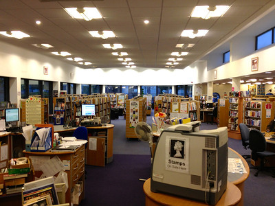 Managed a quick surprise visit to sister in law Liz's workplace a library in Tyle Hill Coventry with son Matt