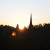 Typical morning sunrise from my bedroom with St Mary's Church spire