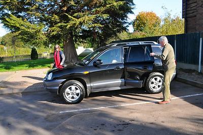 Carolyn's Hyundai with new shiny tires