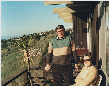 Mum & Dad visited us in Rancho Palos Verdes Los Verdes Apartments CA in 1982
