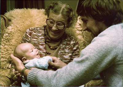 Grandmother Webb with my brothers first child Thomas