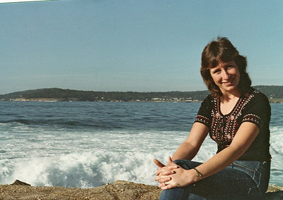 Anne at Carmel Beach in 1978