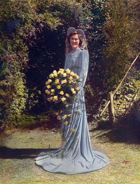 This was my mum Bertha Bisco on her wedding day