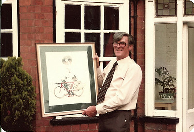 Dads retirement party in 1983 and presentation of photo commemorating all his years at the Post Office