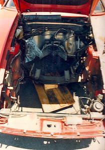 having discovered the chassis was tweaked I had to remove the engine assembly before shipping it to the body shop for the rack straightening treatment!